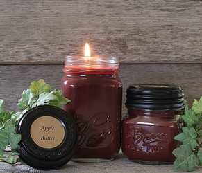 Apple Butter Soy Blend Jar Candle 16 or 8oz