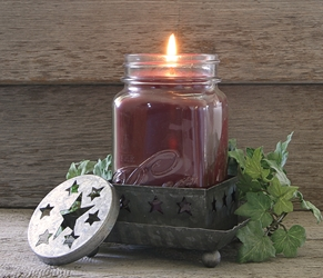 Galvanized Star Candle Cap