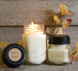 Bamboo & Hemp Half Pint Candle