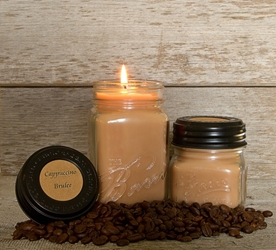 Cappuccino Brulee Soy Blend Jar Candle 16 oz
