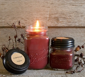 Cedarwood Amber Jar Candle 8oz