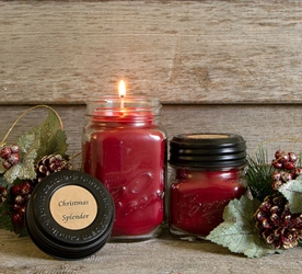 Christmas Splendor Soy Blend Jar Candle 8oz
