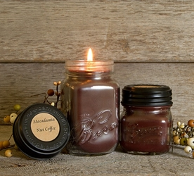 Macadamia Nut Coffee Soy Blend Jar Candle 16oz