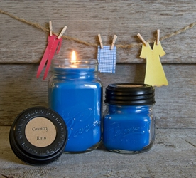 Country Rain Soy Blend Jar Candles 8oz