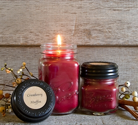 Cranberry Muffin Soy Blend Jar Candle 8oz