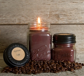 Espresso Cafe Soy Blend Jar Candle 8oz