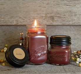 Leather Soy Blend Jar Candle 8oz