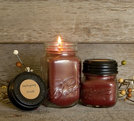 Mahogany Woods Soy Blend Jar Candle 16oz
