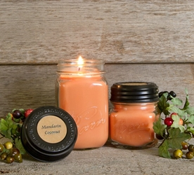 Mandarin Coconut Soy Blend Jar Candle 8oz