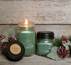Nutmeg & Cedar Soy Blend Jar Candle 16oz