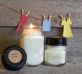 Organic Cotton Soy Blend Jar Candle 16oz