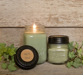 Sage & Citrus Soy Blend Jar Candle 16oz