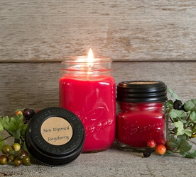 Sun-Ripened Raspberry Soy Blend Jar Candle 8oz