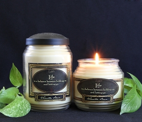 Vanilla Bean Reflective Light Scentiments Candle