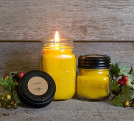 Lemon Chiffon Soy Blend Jar Candle 16oz