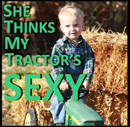 She Thinks My Tractor Green Matchbook