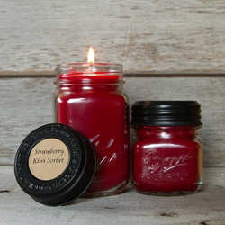 Strawberry Kiwi Sorbet Soy Blend Jar Candle  8oz